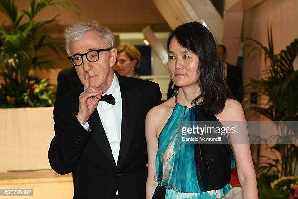 Woody Allen and Soon Yi Previn arrive at the Opening Gala Dinner during The 69th Annual Cannes Film Festival on May 11 2016 in Cannes
