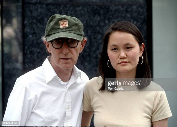 Woody Allen and Soon Yi Previn during Woody Allen and SoonYi Previn Sighting on Madison Ave in New York City June 16 1998 at Madison Avenue in New...