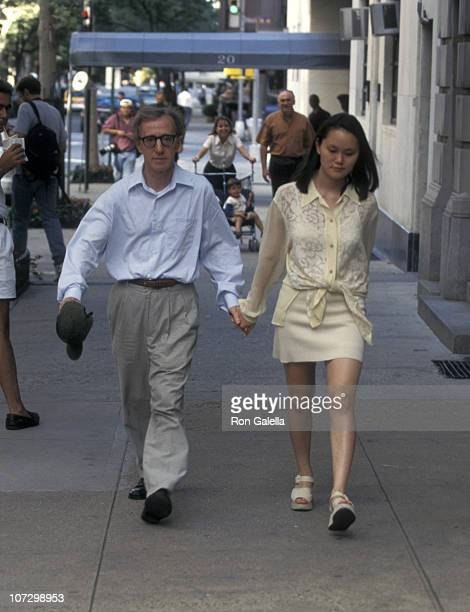 Woody Allen and Soon Yi Previn during Woody Allen and SoonYi Previn Sighting on Madison Ave in New York City August 19 1997 at Madison Avenue in New...