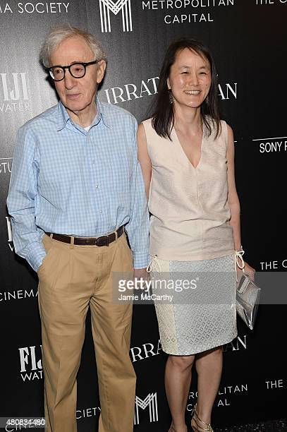 Woody Allen and SoonYi Previn attend Sony Pictures Classics 'Irrational Man' premiere hosted by Fiji Water Metropolitan Capital Bank and The Cinema...
