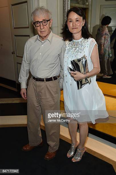 Woody Allen and SoonYi Previn attend the after party for the 'Cafe Society' premiere hosted by Amazon Lionsgate with The Cinema Society at The...