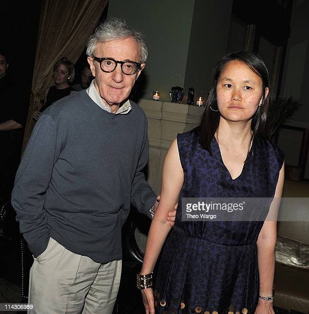 Woody Allen and SoonYi Previn attend the after party for the Cinema Society Thierry Mugler screening of 'Midnight in Paris' at the Soho Grand Hotel...