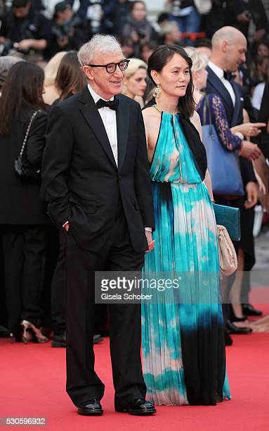 Woody Allen and SoonYi Previn attend the 'Cafe Society' premiere and the Opening Night Gala during the 69th annual Cannes Film Festival at the Palais...