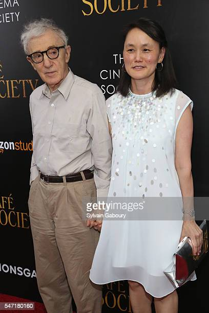 Woody Allen and SoonYi Previn attend the New York premiere of 'Cafe Society' hosted by Amazon Lionsgate with The Cinema Society on July 13 2016 in...