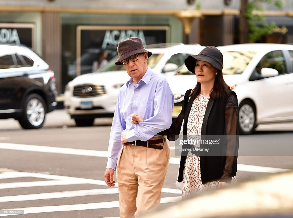 Woody Allen and Soon-Yi Previn seen on the streets of Manhattan on September 17, 2016 in New York City.