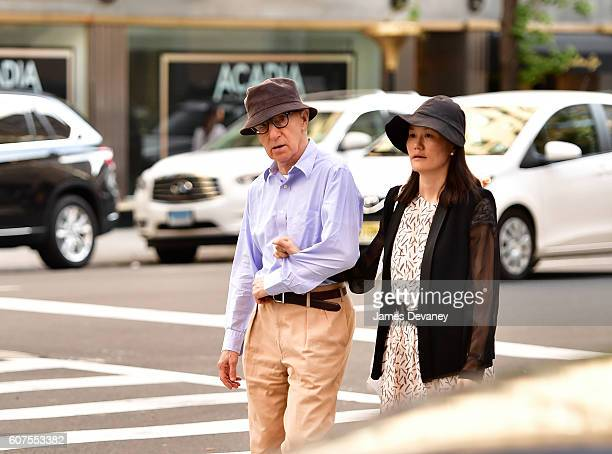 Woody Allen and SoonYi Previn seen on the streets of Manhattan on September 17 2016 in New York City