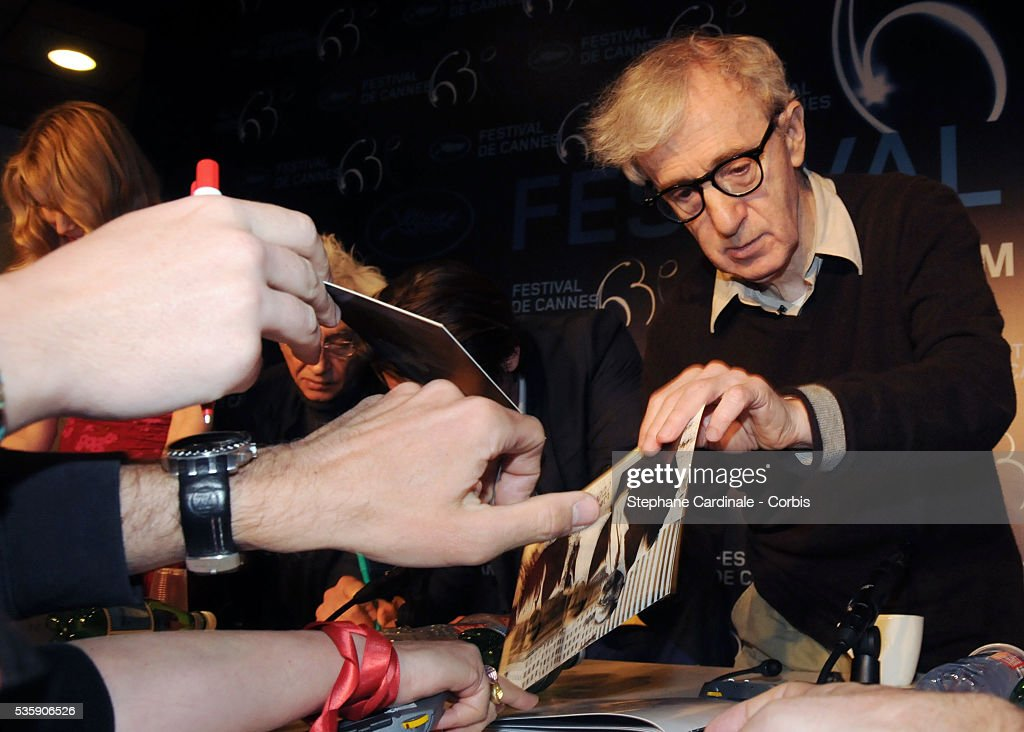 Woody Allen at the Press conference of 'You will meet a tall dark stranger' at the 63rd Cannes International Film Festival