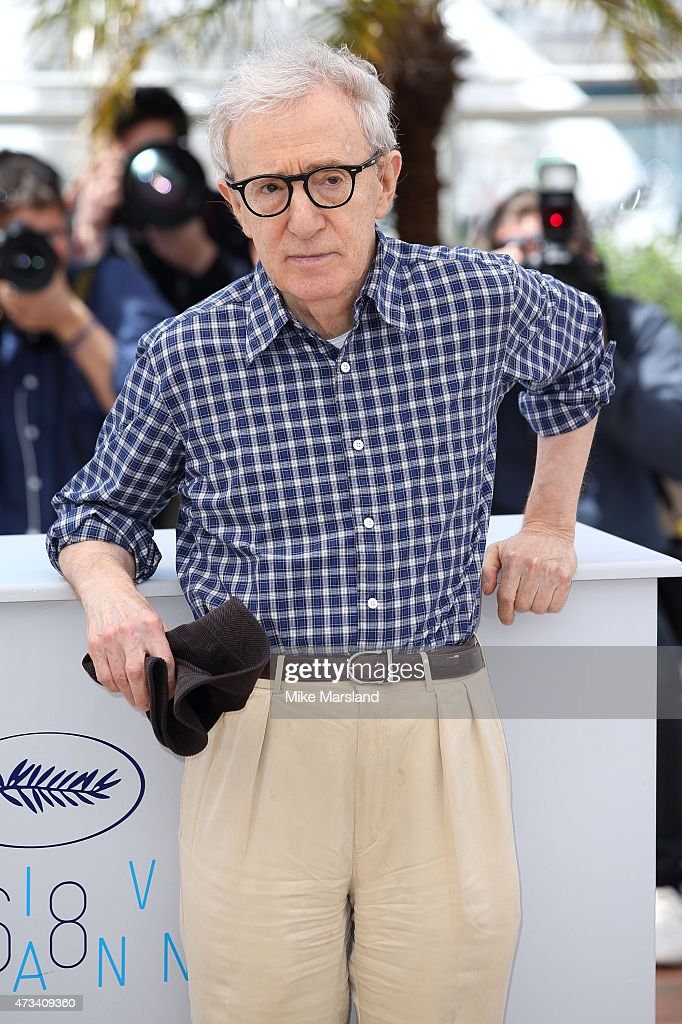 <a gi-track='captionPersonalityLinkClicked' href=/galleries/search?phrase=Woody+Allen&family=editorial&specificpeople=202886 ng-click='$event.stopPropagation()'>Woody Allen</a> attends the 'Irrational Man' Photocall during the 68th annual Cannes Film Festival on May 15, 2015 in Cannes, France.