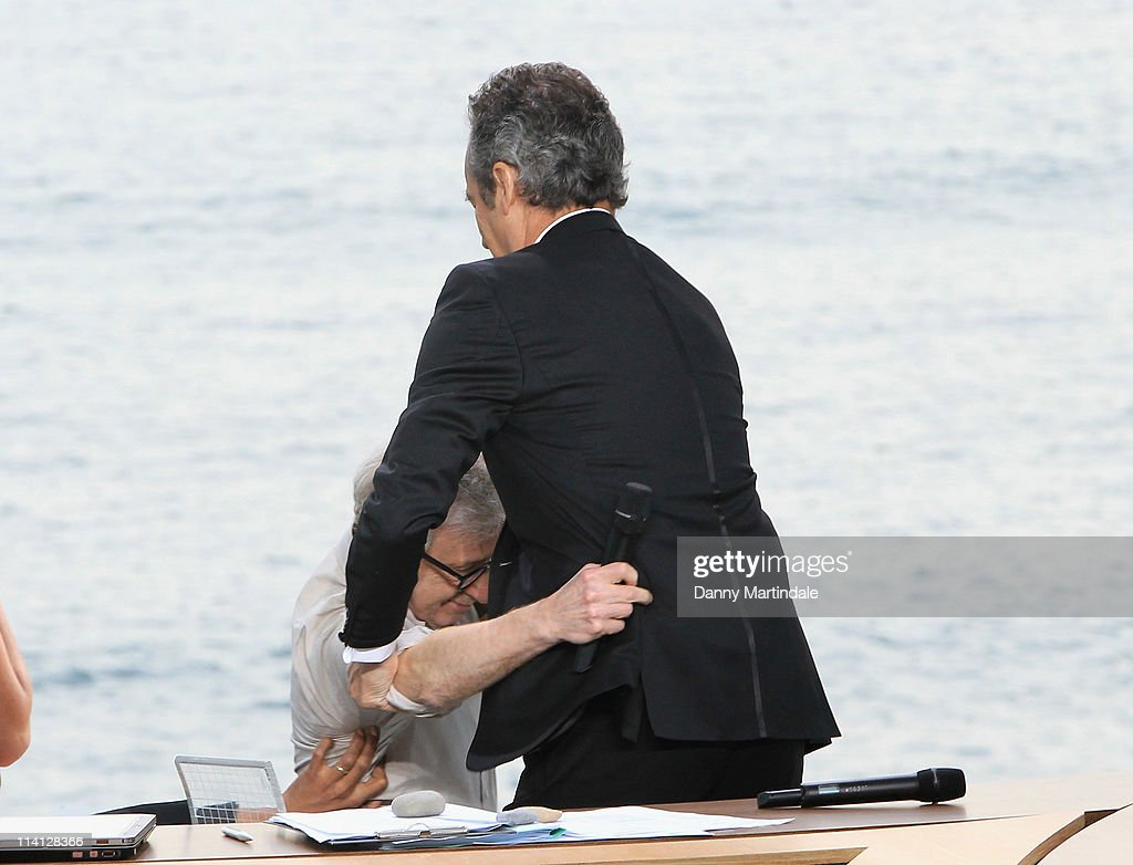 64th Annual Cannes Film Festival - 'Le Grand Journal' At Majestic Beach