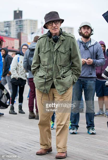 Woody Allen is seen filming on Coney Island on September 29 2016 in New York City