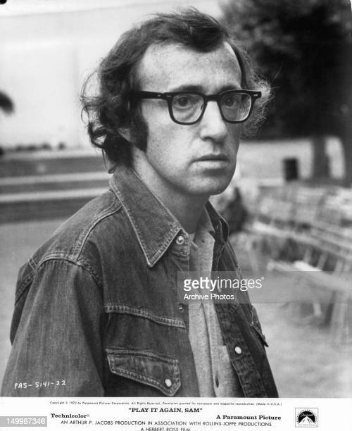 Woody Allen looking to his right in a scene from the film 'Play It Again Sam' 1972