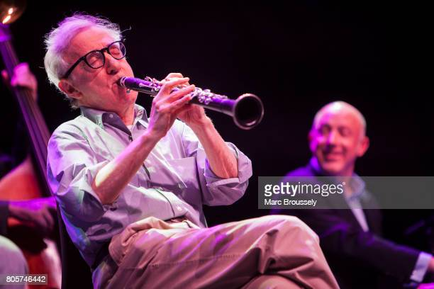 Woody Allen performs with Conal Fowkes of his New Orleans Jazz Band at Royal Albert Hall on July 2 2017 in London England