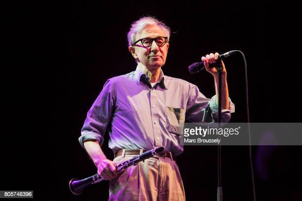 Woody Allen performs with his New Orleans Jazz Band at Royal Albert Hall on July 2 2017 in London England