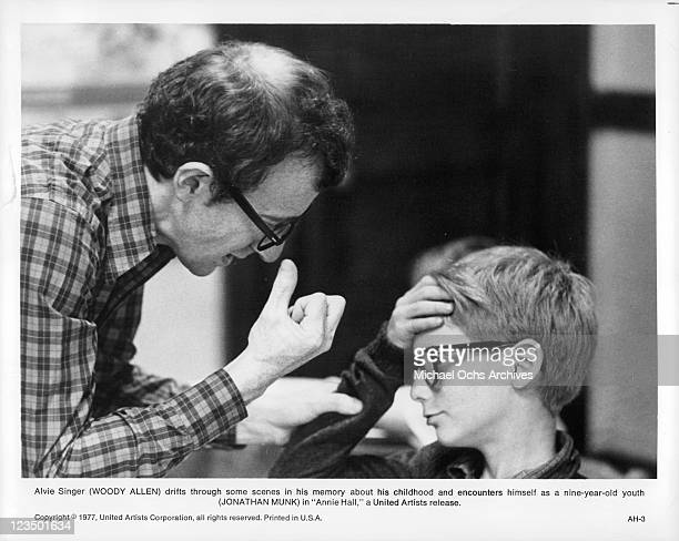 Woody Allen talking with Jonathan Munk in a scene from the film 'Annie Hall' 1977