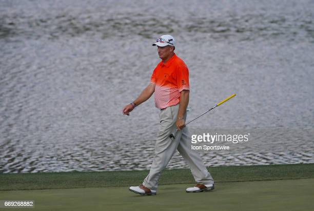 Woody Austin during the final round of the Mitsubishi Electric Classic tournament at the TPC Sugarloaf Golf Club Sunday April 16 in Duluth GA