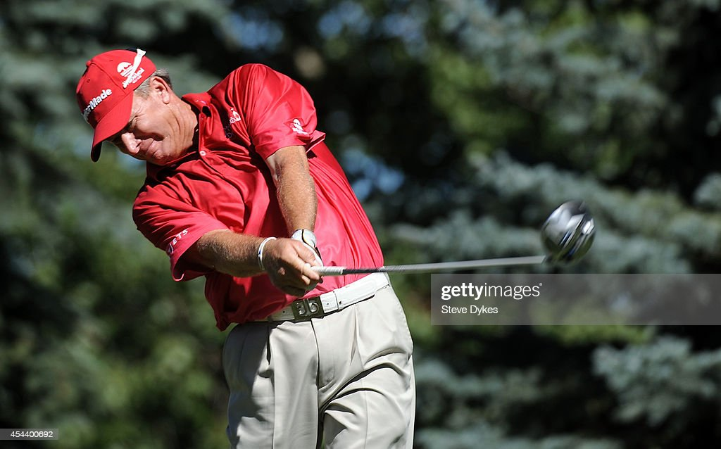 <a gi-track='captionPersonalityLinkClicked' href=/galleries/search?phrase=Woody+Austin&family=editorial&specificpeople=596075 ng-click='$event.stopPropagation()'>Woody Austin</a> hits his drive on the fourth hole during the second round of the Shaw Charity Classic at the Canyon Meadows Golf and Country Club on August 30, 2014 in Calgary, Canada.