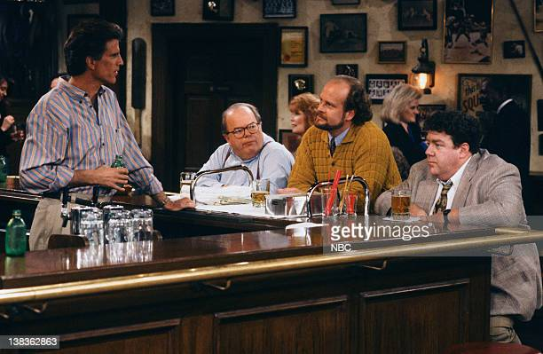 CHEERS 'Woody Gets an Election' Episode 21 Air Date Pictured Ted Danson as Sam Malone Paul Willson as Paul Krapence Kelsey Grammer as Dr Frasier...