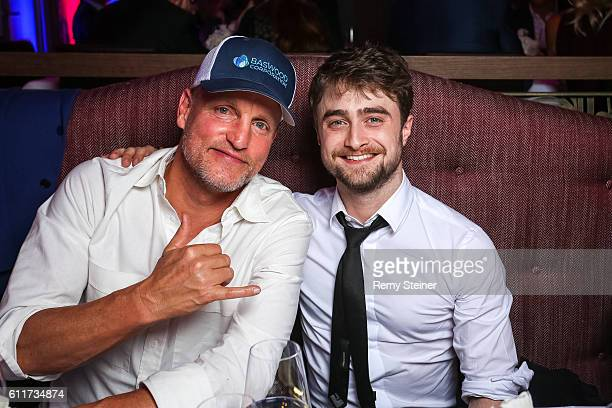 Woody Harrelson and Daniel Radcliffe at the Tommy Hilfiger Dinner in celebration of the 12th Zurich Film Festival on September 30 2016 in Zurich...