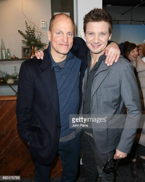 Woody Harrelson and Jeremy Renner are seen at The Hollywood Reporter 2017 Sundance Studio At Sky Strada Day 3 2017 Park City on January 22 2017 in...