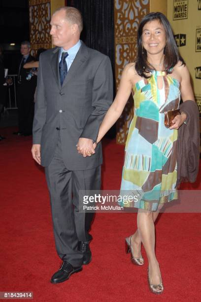 Woody Harrelson and Laura Louie attend 2010 Critics Choice Awards at The Palladium on January 15 2010 in Hollywood California