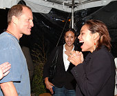 Woody Harrelson and Rosario Dawson during SELF Magazine Hosts Party for November Cover Girl Rosario Dawson at Nike House in Venice California United...