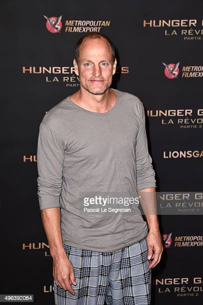 Woody Harrelson attends the The Hunger Games Mockingjay Part 2 Photocall at Plazza Athenee on November 9 2015 in Paris France