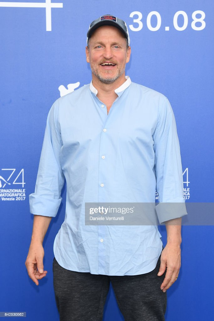 Woody Harrelson attends the 'Three Billboards Outside Ebbing, Missouri ' photocall during the 74th Venice Film Festival at Sala Casino on September 4, 2017 in Venice, Italy.