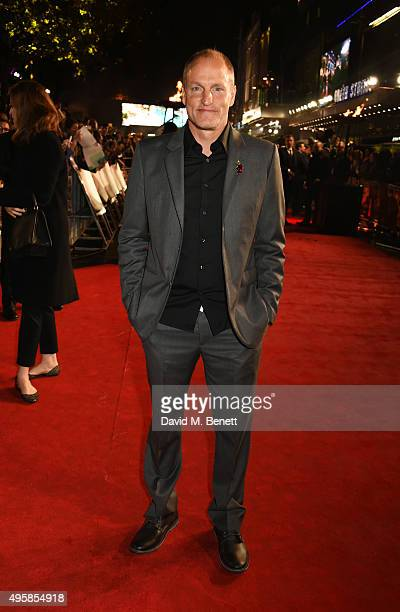 Woody Harrelson attends the UK Premiere of 'The Hunger Games Mockingjay Part 2' at Odeon Leicester Square on November 5 2015 in London England