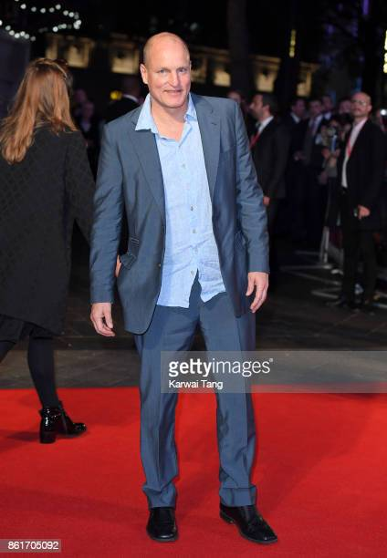 Woody Harrelson attends the UK Premiere of 'Three Billboards Outside Ebbing Missouri' during the closing night gala of the 61st BFI London Film...