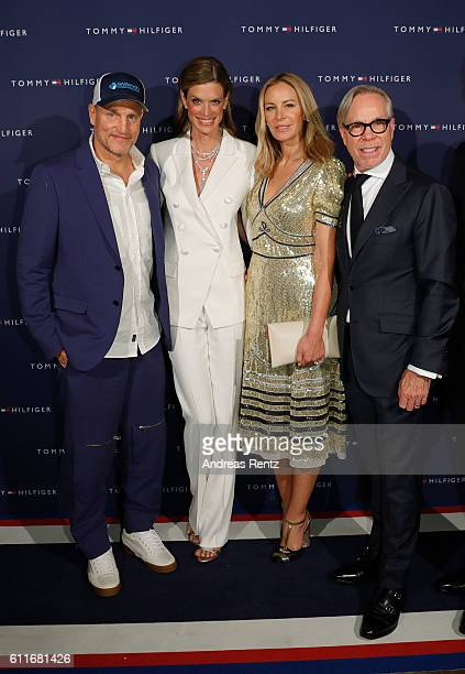 Woody Harrelson Festival director Nadja Schildknecht Dee Hilfiger and Tommy Hilfiger at the Tommy Hilfiger Dinner in celebration of the 12th Zurich...