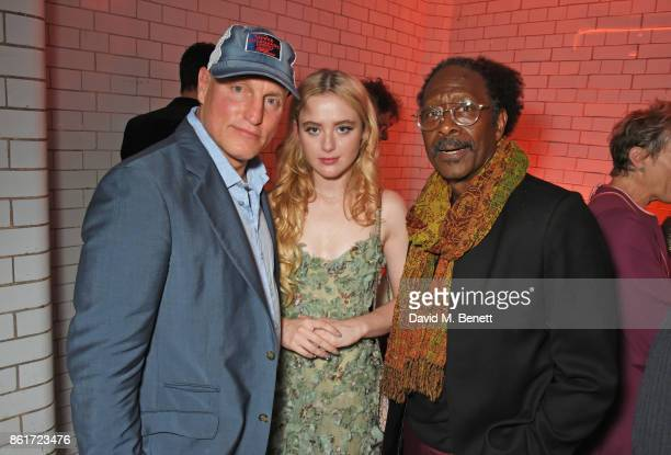 Woody Harrelson Kathryn Newton and Clarke Peters attend the after party for 'Three Billboards Outside Ebbing Missouri' at the closing night gala of...