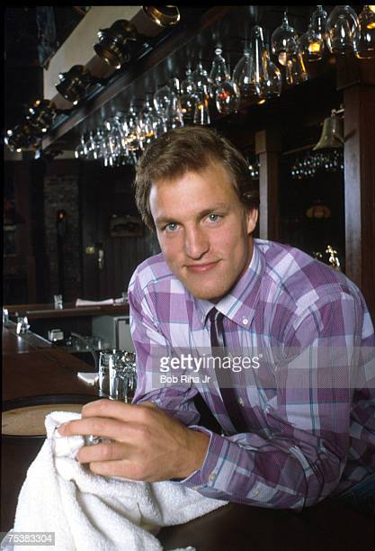 Woody Harrelson on the 'Cheers' television set in file photo taken 3/17/86 in Los Angeles Calif