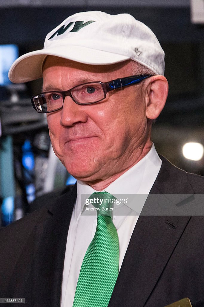 <a gi-track='captionPersonalityLinkClicked' href=/galleries/search?phrase=Woody+Johnson&family=editorial&specificpeople=748966 ng-click='$event.stopPropagation()'>Woody Johnson</a>, co-chairman of the Super Bowl Host Committee and owner of the New York Jets, arrives on the floor of the New York Stock Exchange (NYSE) on the morning of January 30, 2014 in New York City. The NYSE welcomed members of the Super Bowl Host Committee, owners and managers of the Denver Broncos and Seattle Seahawks to ring the opening bell today.