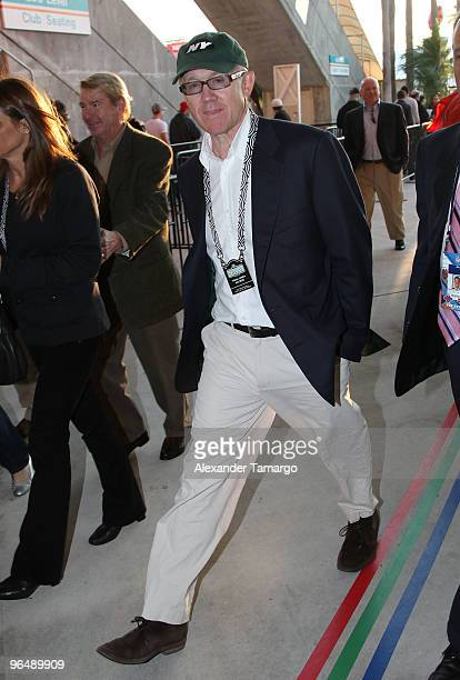 Woody Johnson is seen arriving at Super Bowl XLIV at Sun Life Stadium on February 7 2010 in Miami Gardens Florida