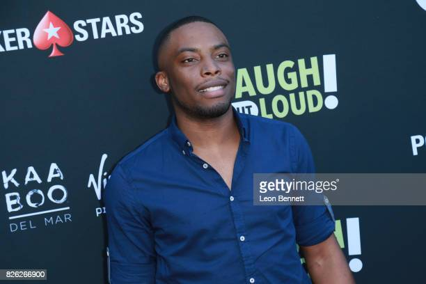 Woody McClain attends the Kevin Hart and Jon Feltheimer Host Launch Of Laugh Out Loud at Private Residence on August 3 2017 in Beverly Hills...