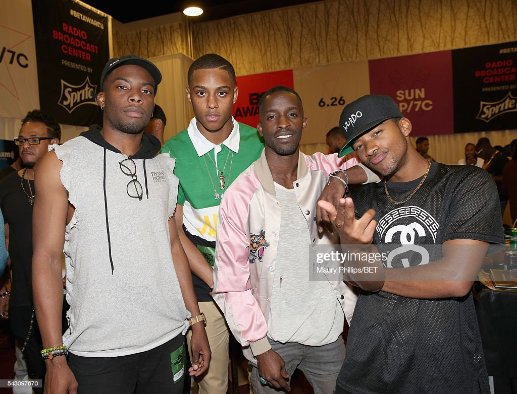 Woody McClain, Keith Powers, <a gi-track='captionPersonalityLinkClicked' href=/galleries/search?phrase=Elijah+Kelley&family=editorial&specificpeople=718968 ng-click='$event.stopPropagation()'>Elijah Kelley</a> and Algee Smith attend the radio broadcast center during the 2016 BET Experience at the JW Marriott Los Angeles L.A. Live on June 25, 2016 in Los Angeles, California.