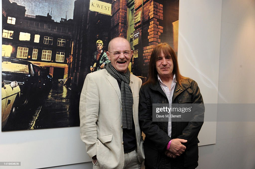 Woody Woodmansey and Trevor Bolder attend the unveiling of a plaque dedicated to David Bowie's famous character Ziggy Stardust on March 27, 201 in London, England. The plaque has been installed on Heddon Street, London, which was the location of the album cover photograph for 'The Rise and Fall of Ziggy Stardust and the Spiders from Mars'.