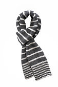 winter scarf isolated on white background