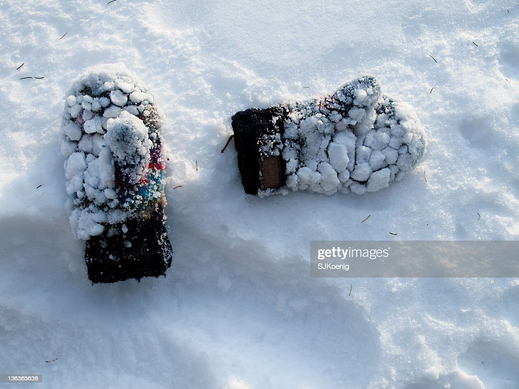 Image result for mittens covered in snow