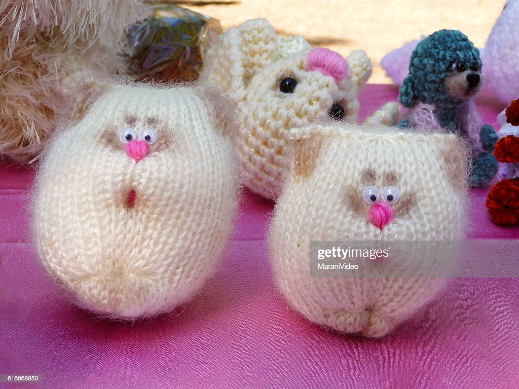 Woolen Handmade Cat Toys for Sale : Stock Photo