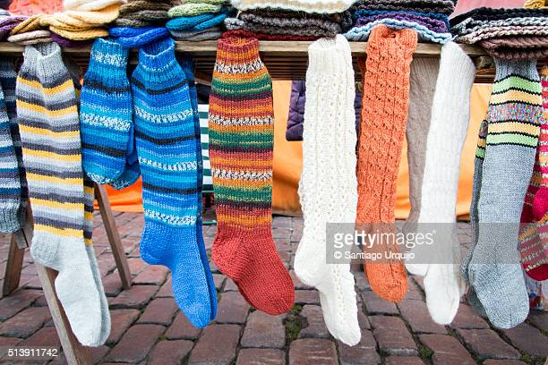 Woollen shocks for sale at Market Square