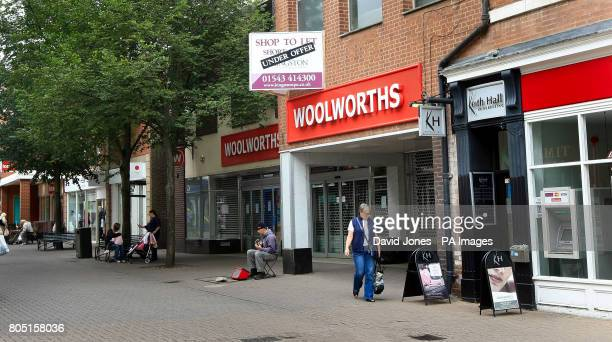 Woolworth store in Lichfield West Midlands unoccupied today