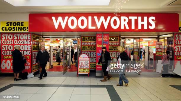 Woolworths shop at 911 Underhill Walk Cooper's Square Shopping Centre BurtonOnTrent Staffordshire DE14 1DE