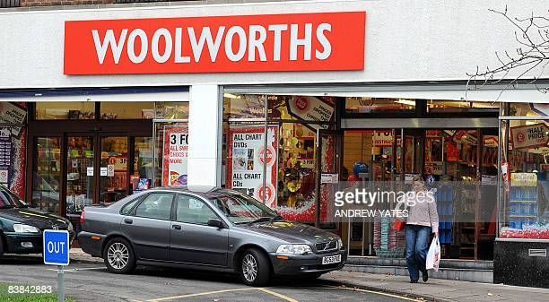 A Woolworths store is pictured in Bramhall near Manchester northwest England on November 27 2008 British clothestoconfectionery retail group...