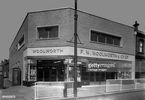 Woolworth's store Parkgate Rotherham South Yorkshire 1957 The Woolworth's Store in Parkgate was located on a junction on the main road into Rotherham...