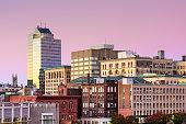 Worcester, Massachusetts, USA downtown skyline.