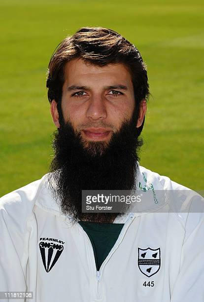 Worcestershire CCC player Moeen Ali poses for his head shot during the photocall at New Road on April 7 2011 in Worcester England