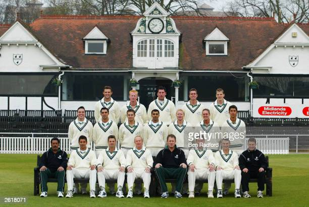 Worcestershire CCC team group taken during the Worcestershire County Cricket Club photocall held on April 11 2003 at the County Ground in Worcester...