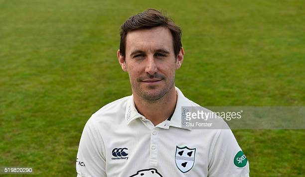 Worcestershire cricket player Daryl Mitchell pictured during the Worcestershire CCC Photocall at New Road on April 8 2016 in Worcester England