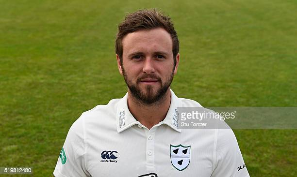 Worcestershire cricket player Ross Whiteley pictured during the Worcestershire CCC Photocall at New Road on April 8 2016 in Worcester England